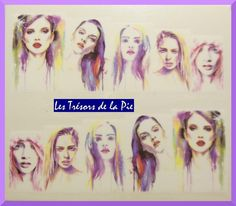STICKERS ONGLES WATER DECAL (x10) - Nail art - Femmes - Multicolore