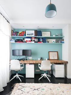 10 ways to decorate your interior with trendy furniture - Angela Williams Home Office, Office Desk, Duplex Apartment, Trendy Furniture, Modern Room, Office Interiors, Bathroom Inspiration, Corner Desk, Master Bedroom