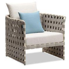 100 Essentials Loft Single Sofa with Cushions Fabric: Sunbrella Pacific Blue
