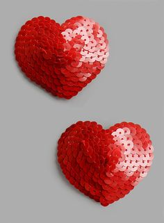 Two red hearts All Heart, I Love Heart, Happy Heart, Heart Art, Valentine Love, Valentines, Cool Necklaces, Felt Hearts, All You Need Is Love