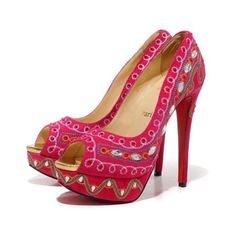 Christian Louboutin replica Bollywoody 160mm Hot Pink Peep Toe,Please click picture to buy and get more detail.