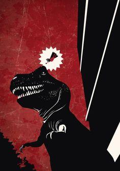 Tyrannosaurus Rex on the rampage. Rampage by Carlos Araujo