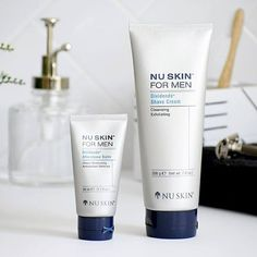 Nu Skin, After Shave Balm, Shaving Cream, Stress, Cleanse, The Balm, Skin Care, Mens Fashion, Bottle