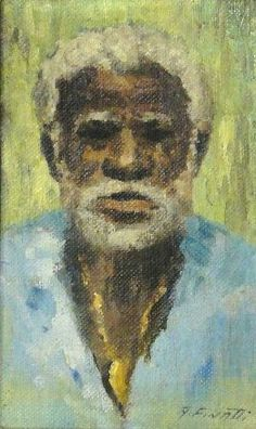 ANTENOR FINATTI (1923) - Portrait de Caboclo,ose, 20 x 12.