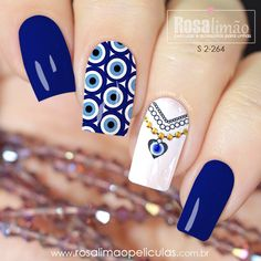 Latest Nail Designs, Nail Art Designs Videos, Best Nail Art Designs, Gorgeous Nails, Pretty Nails, Red Nails, Hair And Nails, Maybelline Nail Polish, Evil Eye Nails