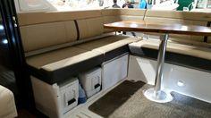 Storage under deck seating