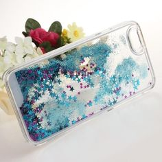 NWT  Glitter iPhone 6/6s Case Brand new sealed in packaging case for iPhone 6/6s. It has blue glitter and purple star confetti mixed together in the back that shifts around depending on how you move your phone! Really really cute. Accessories Phone Cases
