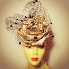 Millinery Satin Rose Fascinator  The Rose by katherinecareyhats, $225.00