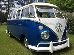 Vw campervan blue...Beep Beep...Re-pin...Brought to you by #HouseofInsurance for #CarInsurance #EugeneOregon