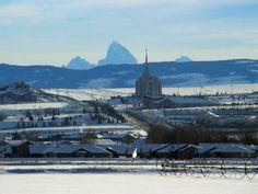 Click to enlarge this image of the Rexburg Idaho Mormon Temple