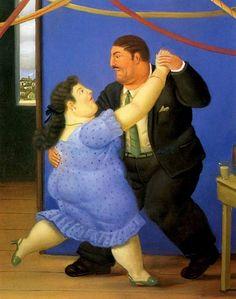 Dancers, Pareja bailando, Fernando-Botero