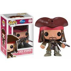 Funko POP Jack Sparrow 48 Pirates of the Caribbean Funko POP! Disney... ($11) ❤ liked on Polyvore featuring home, home decor, vinyl figurines, vinyl figure, pirate figurines, disney figure and disney home decor