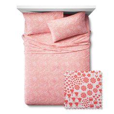 Fetching Florals Sheet Set - Pillowfort, Fresh Melon