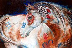 SUN RISING INDIAN WAR HORSE