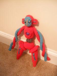 Deoxys! Wow, this is the ultimate in crocheted pokemon! Are you up to the challenge?