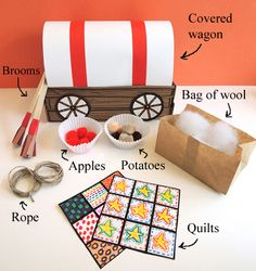 Oxcart Man colonial activity wagon is great when teaching about the history of pioneers. Students can manipulate the wagons and incorporate all the needed elements. Pioneer Day Activities, Hands On Activities, Activities For Kids, History Activities, History Education, Teaching History, Educational Activities, Kids Education, Learning Activities