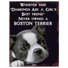 Boston Terrier Lovers metal Wall sign http://www.fabu-licious.com/vintage-best-friend-boston-terrier-wall-sign