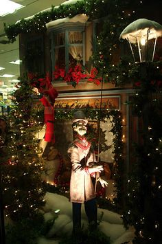 Woodward's windows were always 'dressed' for Christmas. After visiting Santa my parents would take us to see all the different displays. This photo from 'sights, bits & bites'