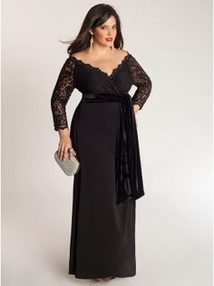Anastasia Plus Size Gown in Onyx - Evening Dresses by IGIGI  Love this for mother of bride dress