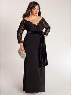 Anastasia Plus Size Gown in Onyx - Wedding Party by IGIGI