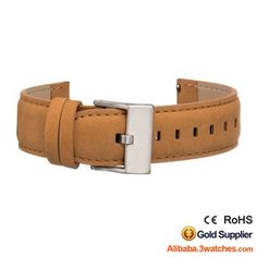 Tan Genuine leather Watches Strap 3W-S-L12, click picture to designs your own brand watch.