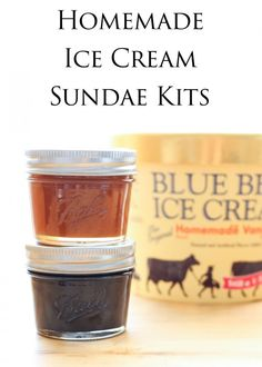 Ice Cream Sundae Kits - perfect for holiday gift giving.