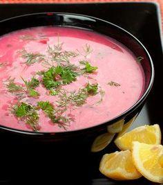 Céklaleves 2 cékla 1 l víz 2 húsleveskocka 1 fej hagyma 2 dl joghurt citromlé, méz, só, bors, olívaolaj Reszeld le a céklát. Olajon párold üvegesre az apróra vágott hagymát, majd add hozzá a céklát. Pár percig párold ezt is, majd öntsd fel a vízzel. Morzsold bele a leveskockát. Főzd puhára, majd turmixold le. Add hozzá a joghurtot, de ügyelj a hőkiegyenlítésre. Sózd, borsozd, majd ízlés szerint ízesítsd citromlével és mézzel.
