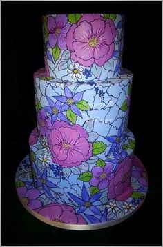 Stained Glass - Cake by Margaret Ellis - Art of Sugar