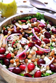 Cherry Almond Arugula Salad | Lemon Tree Dwelling