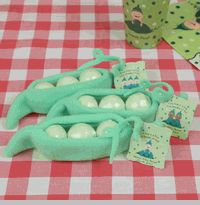 cute favor idea for a baby shower with multiples... twins, triplets, etc.
