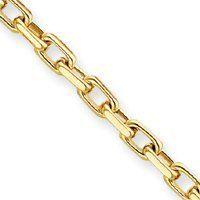 14k 4.6mm Polished Fancy Link Bracelet - 8 Inch - Lobster Claw - JewelryWeb JewelryWeb. $1707.30. Save 50% Off!