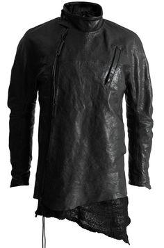 Leon Louis raglan horse leather jacket w. detachable merino knit lining Dark Fashion, Minimal Fashion, Mens Fashion, Fashion Outfits, Dystopian Fashion, Cyberpunk Fashion, Alternative Fashion, Ideias Fashion, Street Wear