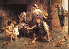 I PICCIONI DOMESTICI - Eugenio Zampighi (1859-1944)   EUGENIO ZAMPIGHI (Modena, 1859 – Maranello, 1944)   #TuscanyAgriturismoGiratola