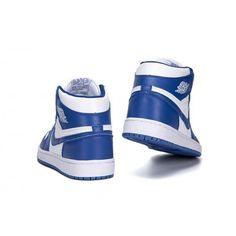 hot sale online c8378 77af9 Customize Mens Air Jordan 1 Blue White Sneakers  AirJordan Jordans For  Sale, Nike Air