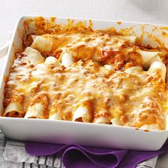 Simple Creamy Chicken Enchiladas Recipe -This is one of the first recipes I created and cooked for my husband right after we got married. He was so impressed! We fix these creamy enchiladas for friends regularly. Best Chicken Enchilada Recipe, Creamy Chicken Enchiladas, Enchilada Recipes, Chicken Recipes, Enchilada Bake, Chicken Burritos, Chicken Casserole, Chicken Soup, Chicken Potpie