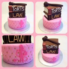 Legally blonde cake http://instagram.com/wellkneadedbakery