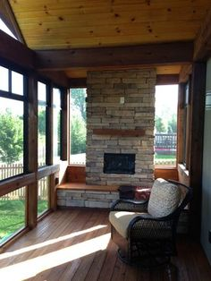 1000 images about cabin and camper on pinterest cabin for Four season rooms with fireplaces