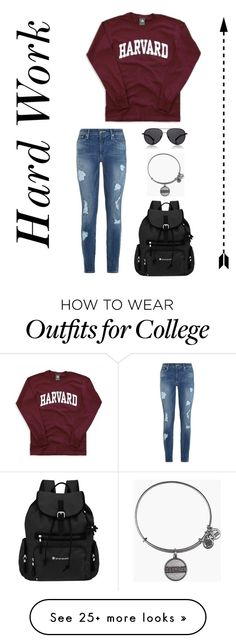 """""""Harvard"""" by matilda131 on Polyvore featuring Alex and Ani, True Religion, Sherpani and The Row"""