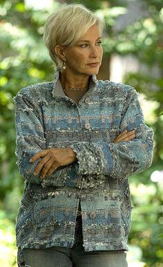 Lucille Crighton. Handwoven jacket.