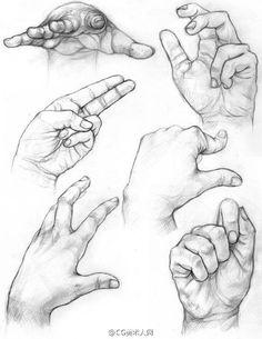 Handy sketches como dibujar desenhos, ideias para desenho y Body Drawing, Life Drawing, Drawing Lessons, Figure Drawing, Painting & Drawing, Drawing Hands, Feet Drawing, Anatomy Sketches, Anatomy Drawing