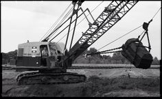Mining Equipment, Heavy Equipment, Surface Mining, Bucyrus Erie, Shovel, North West, Utility Pole, Country, Building