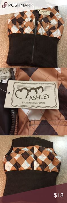 Vest Multi colored lined vest ashley by 26 international Other