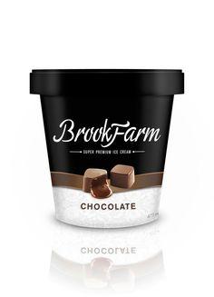 Brookfarm super premium ice cream line. Designed by SHFT Inc