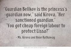Vampire Academy Quotes | Ms. Kirova and Rose