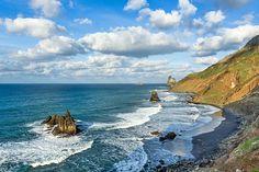 Playa Benijo in the far north of Tenerife | 7 Magnificent Beaches In Tenerife | Weather2Travel.com #travel #spain #canaryisland #beach #tenerife