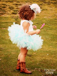 tutu and cowgirl boots #presh