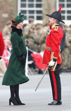 Kate Middleton Photos - Catherine, Duchess of Cambridge attends the annual Irish Guards St Patrick's Day Parade at Cavalry Barracks on March 17, 2018 in Hounslow, England. - The Duke And Duchess Of Cambridge Attend The Irish Guards St Patrick's Day Parade