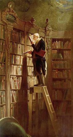 The Bookworm by Carl Spitzweg; 1850