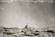 Jarred Meehan sits on the precipice of the towering Selfoss Waterfall on the Jokulsa a Fjollum river in Selfoss, Iceland. Ben Brown, Most Beautiful, Beautiful Places, Iceland Waterfalls, Jump Over, Canoe And Kayak, Beautiful Waterfalls, Kayaking, Canoeing