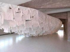site-specific environmental #art #installation by Finnish artist Kaarina Kaiakkonen